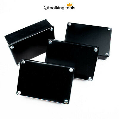"4 x Adaptable Electrical junction Box Steel , black with Knockouts, 6"" x 4"""