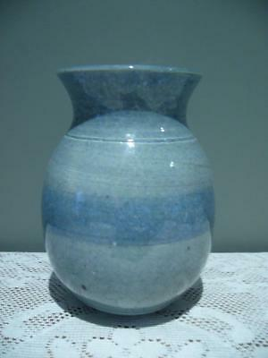 Australian Studio Pottery Vase - Hand Made - Blue - Signed - Collectable - VGC