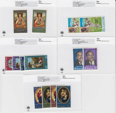 St. Lucia - 1967-8 Commemorative Sets. Sc. #227-40, S.G. #241-55. Mint. NH