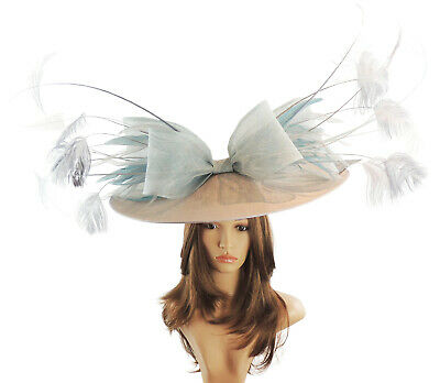 Grey Fascinator Hat For Weddings//Ascot//Proms With Headband G2