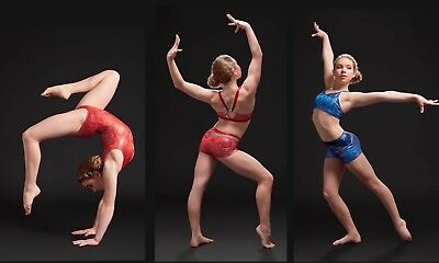 Strut Stuff Gymnastic or dance wear clothes Multiple Items Red and Blue