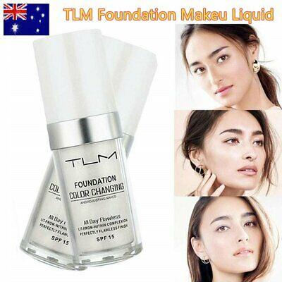 TLM Flawless Colour Changing Warm Skin Tone Foundation Makeu Liquid Concealer NI
