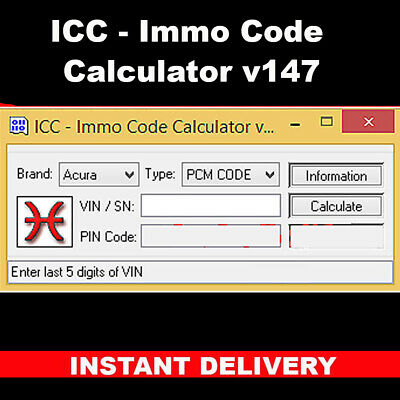 ICC Immo Code Calculator v147 dongle not included