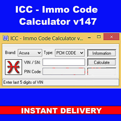 Immo Code Calculator v147 [*NO Dongle*] dongle not included