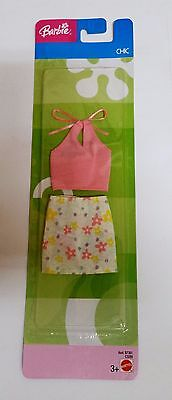 Barbie Doll fashion clothes Mattel Vintage Chic flowers skirt pink top C3289