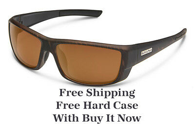 80201eaba1 Suncloud Lock Sunglasses - Burnished Brown   Brown Polarized - Free Hard  Case