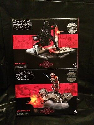 2017 Star Wars Black Series Centerpiece 2 Lot Darth Vader/Luke Skywalker New!!!