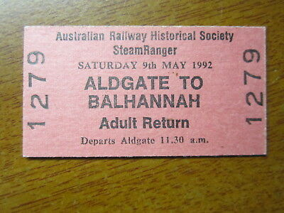 Railway Ticket Aldgate To Balhanna Mint Unused