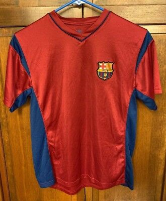 f375ed4e9 FC Barcelona FCB Boys XL Training Shirt BARCA Football Soccer Jersey Red  Blue