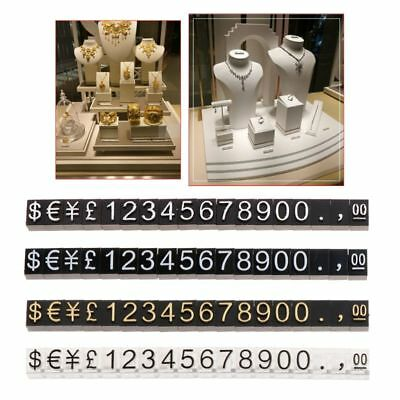 Plastic Cubes Kit Price Tags Display Number Stand Frame Label Shop Adjustable
