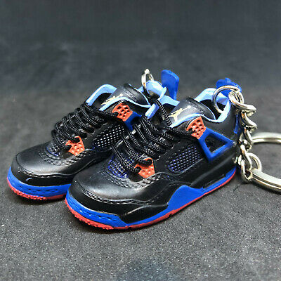 50327bef952 Pair Air Jordan Iv 4 Retro Cavs New York Knicks 3D Sneaker Keychain Shoes  Figure