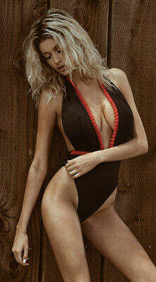 0380f7aa7b WOMENS YANDY PLUNGING Black And Red One Piece Swimsuit -  29.43 ...