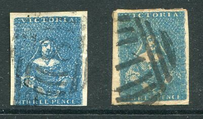 Victoria  1855 3D Blue Half Lengths X 2 Shades. Fine Used
