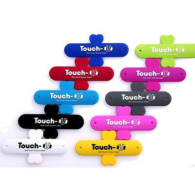 For iPhone & Samsung Slim Phone U-Touch Silicone Stand Holder Universal Sticks