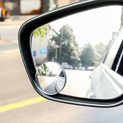 Blind Spot Mirrors x 2 Rimless HD Glass Wide Angle 360° Convex Mirrors Rear View