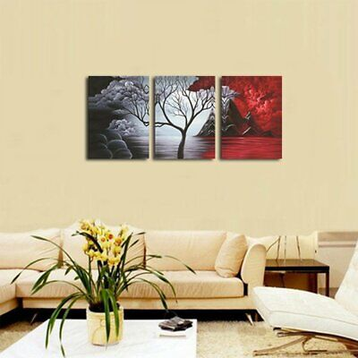 3 Panels Wall Decor Canvas Print Home Art Framed Abstract Landscape Painting US