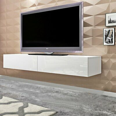 Home Furniture Wall Mounted Hanging Tv Cabinet Entertainment Unit 140cm Floating