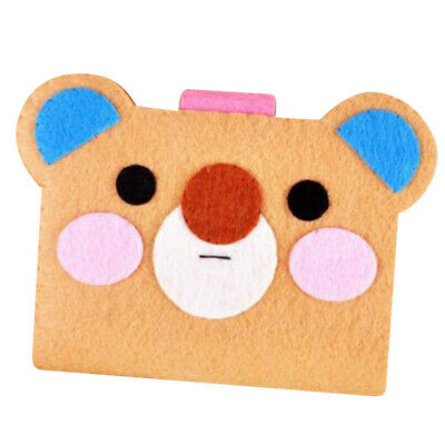 Cute Bear Card Bag DIY Felt Applique Kit Felt Material Package for Beginners