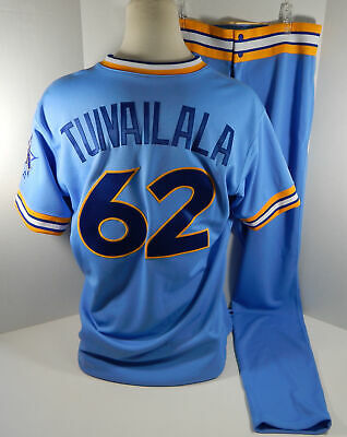 9fdb248fb4e 2018 Seattle Mariners Sam Tuivailala  62 Game Issued Blue 1979 TBTC Jersey  Pants