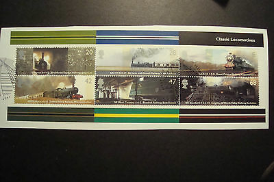 GB 2004 Commemorative Stamps~Classic Locos~ M/S~ Fine Used Set~on piece,~UK