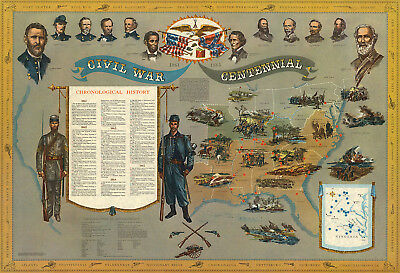 WWII 2 Pictorial Map Canada at War Promotional Military Poster Home School Print
