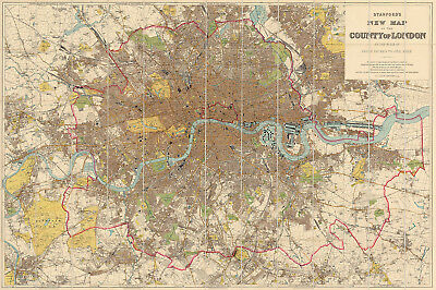 WORLEY/'S GREATER DALLAS map poster 1905 24X36 details color-coded HISTORICAL