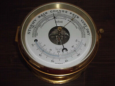 Dekoratives Schiffs-Barometer Von Stockburger,Messing-Barometer #7135