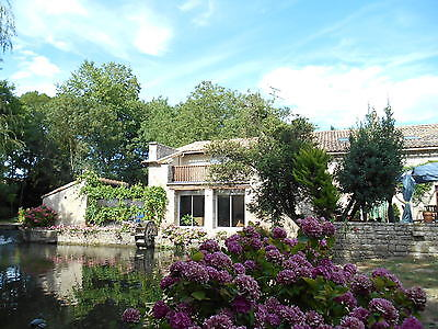 RENTAL OFFER ! Unique Watermill Cottage,Heated Pool, Poitou Charentes, France