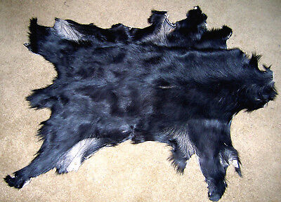 Genuine Goatskin Leather Hair On Hide Pelt Goat Reversible 1.75-2.7sf Leopard #1
