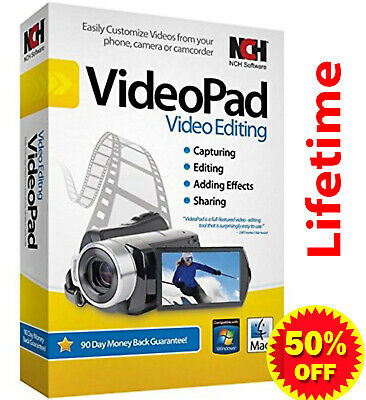 NCH VideoPad Video Editor Professional 7.03 / Lifetime Activation Download 📥