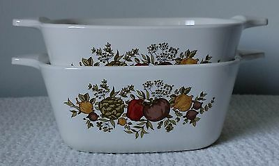 """Corning Ware """"Spice of Life"""" ~ 2¾-Cup CASSEROLES ~  P-43-B ~ Set of 2"""