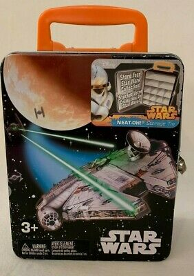 Star Wars Neat-Oh! Storage Tin/Lunchbox!~Millennium Falcon/X-Wing/TIE Fighters