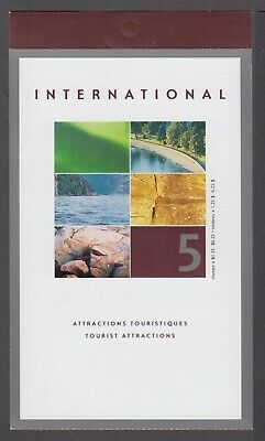 CANADA BOOKLET BK260a 5 x $1.25 TOURIST ATTRACTIONS, GLUED FLAP