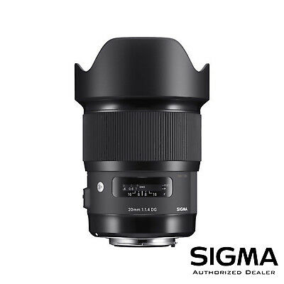 Sigma 20mm f/1.4 DG HSM Art Lens for Canon EF ***USA AUTHORIZED***