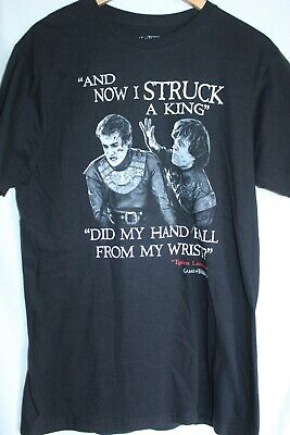 Game Of Thrones, Tyrion Lannister Quote, Men's L, Black, Tshirt, Euc
