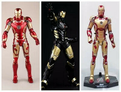 The Avengers Tony Stark Iron Man HC Action Figures Black/Red/Gold Models Gift