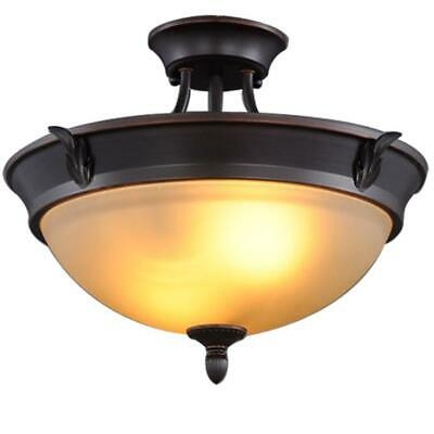 c0611ed8062 HAMPTON BAY GALA 15 in. 3-Light Polished Nickel Semi-Flush Mount ...