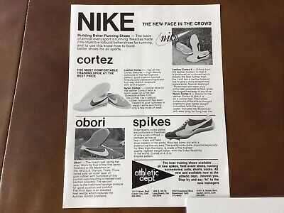 new style 790af 0f793 Vintage 1973 NIKE Cortez Shoe Line-Print Full Page Ad-2nd Nike