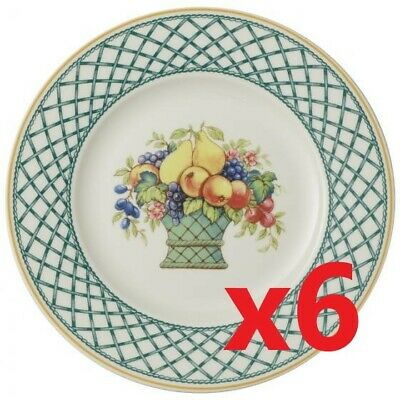 Villeroy & and Boch BASKET 6 x dinner plates 10 5/8', 27cm NEW NWL 1st quality