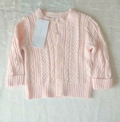 Ralph Lauren Baby Girl's Knitted Long-Sleeve Cotton Cardigan (6-9 M); RRP:£75.00
