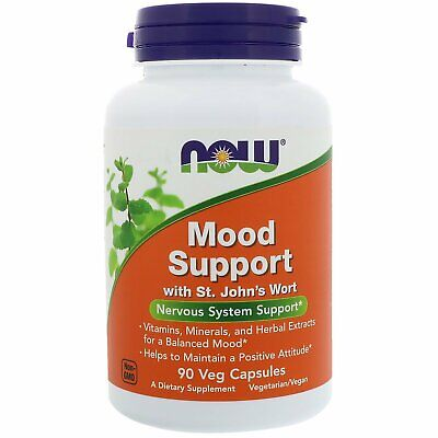 Now Foods Mood Support with St John s Wort 90 Veg Capsules GMP Quality Assured,