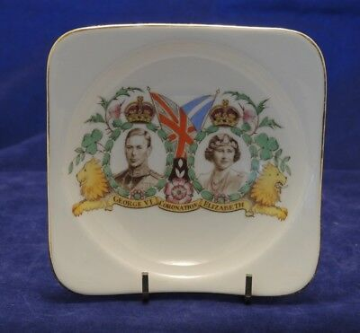 George Vi & Elizabeth Coronation Pin Dish 1937 Grafton #6
