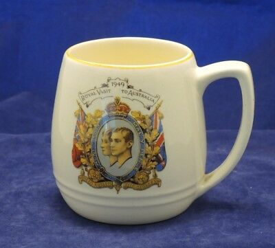 Tankard For 1949 Visit To Australia King George Vi Did Not Happen Barker Bros #9