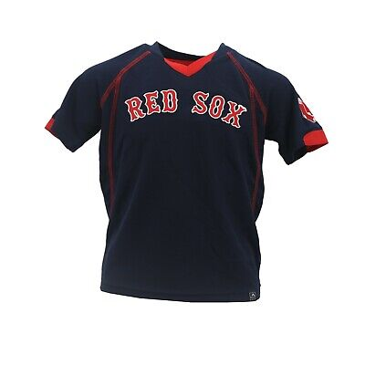 online store f4b60 6eea6 BOSTON RED SOX Official MLB Majestic Youth Kids Size Jersey-Style Shirt New