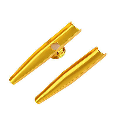 Fashion Metal Kazoo Harmonica Mouth Flute Kids Party Gift Musical Instrument H