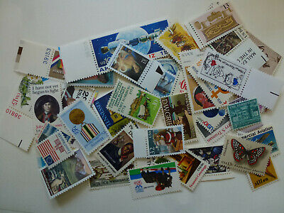 US Lot of 50 MINT Postage stamps all different no dupes vintage MNH FREE SHIP