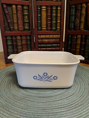 Corning Ware Blue Cornflower P-4-B Casserole/Loaf Pan 1.5 Qt , No Lid