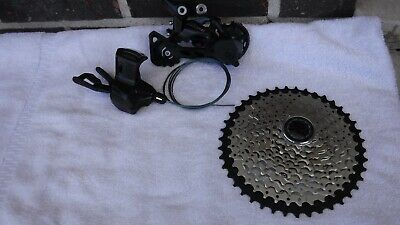 SHIMANO DEORE DRIVE train - Rear derailleur-11-42 Cassette-10speed Shifter
