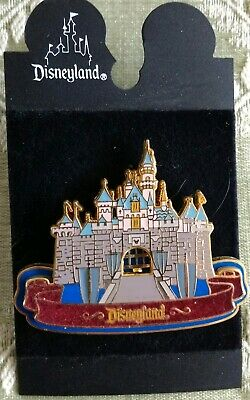 Authentic Disneyland DL Sleeping Beauty Castle w Moveable Gold Gate Disney Pin