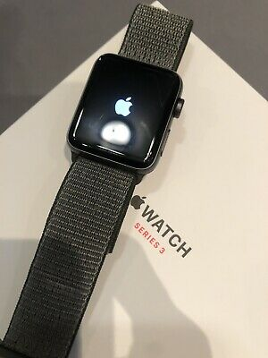 quality design 9238a 6d027 APPLE WATCH SERIES 3 42mm Space Gray Aluminium Case with Dark Olive Sport...